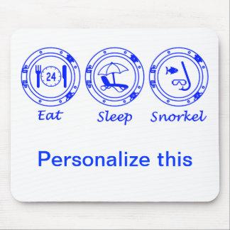 Eat Sleep Snorkel Mouse Pad