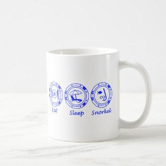 Eat Sleep Snorkel Classic White Coffee Mug