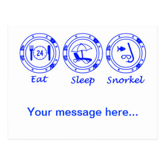 Eat Sleep Snorkel Postcard