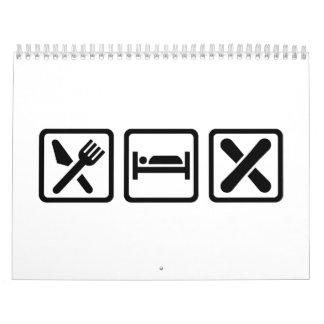 Eat Sleep Snowboard Calendar