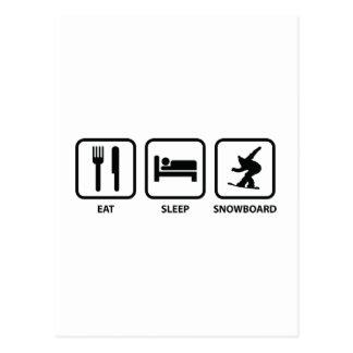 Eat Sleep Snowboard Postcard