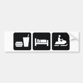 Eat Sleep Snowmobile Bumper Sticker