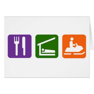Eat Sleep Snowmobiling Card