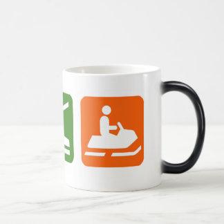Eat Sleep Snowmobiling Magic Mug