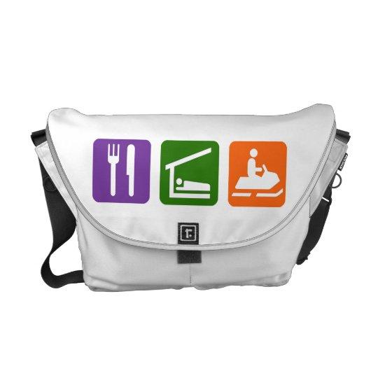 Eat Sleep Snowmobiling Messenger Bag