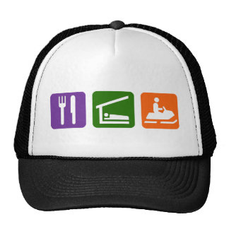 Eat Sleep Snowmobiling Trucker Hat