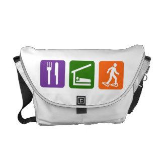 Eat Sleep Snowshoeing Messenger Bags