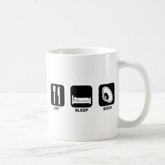 eat sleep soca classic white coffee mug