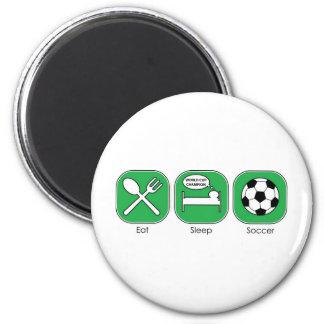 Eat Sleep Soccer 2 Inch Round Magnet
