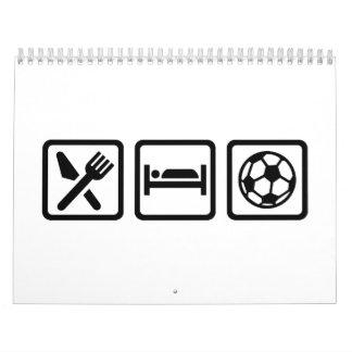Eat sleep soccer calendar