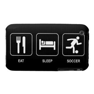 Eat Sleep Soccer iPhone 3 Cover