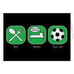 Eat Sleep Soccer Greeting Card