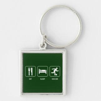 Eat Sleep Soccer Keychain