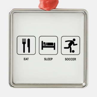 Eat Sleep Soccer Metal Ornament