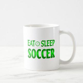 Eat Sleep Soccer Coffee Mugs
