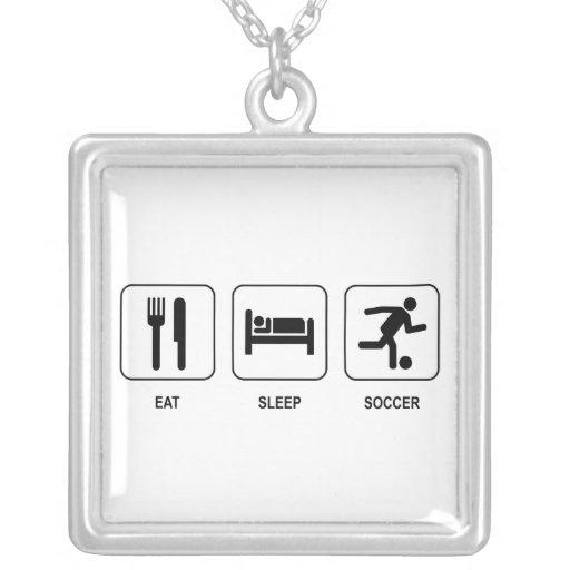 Eat Sleep Soccer Custom Jewelry