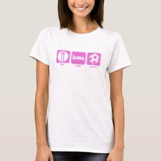 eat sleep soccer pink T-Shirt