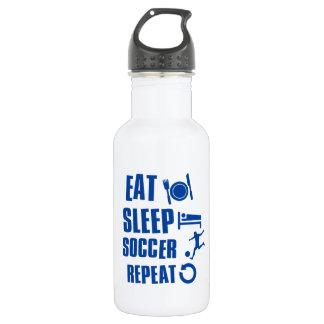 Eat sleep Soccer Stainless Steel Water Bottle