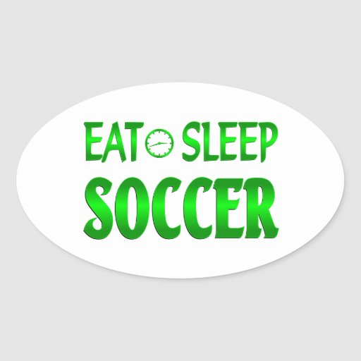 Eat Sleep Soccer Sticker
