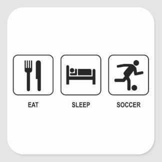 Eat Sleep Soccer Sticker