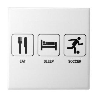 Eat Sleep Soccer Tile