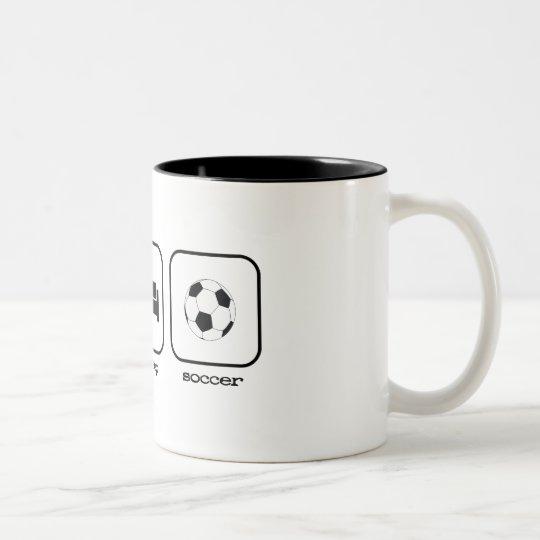 Eat Sleep Soccer Two-Tone Coffee Mug
