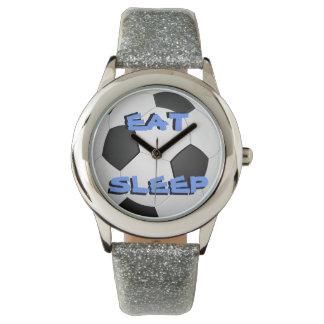 Eat Sleep Soccer Wrist Watch
