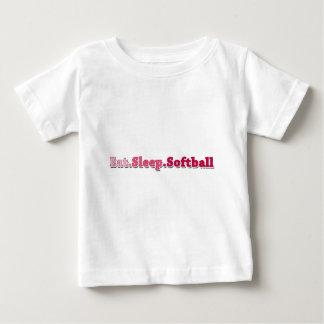 Eat Sleep Softball Baby T-Shirt