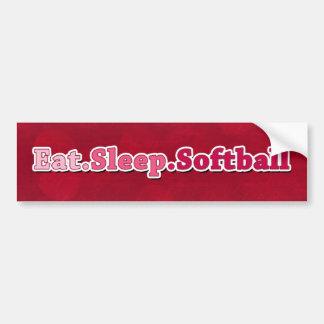Eat Sleep Softball Bumper Sticker