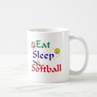 Eat Sleep Softball Coffee Mug