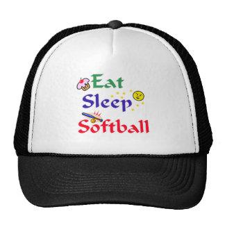 Eat Sleep Softball Trucker Hat