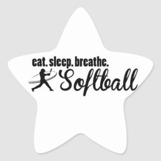 EAT SLEEP SOFTBALL STICKER