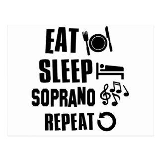 Eat Sleep Soprano Postcard