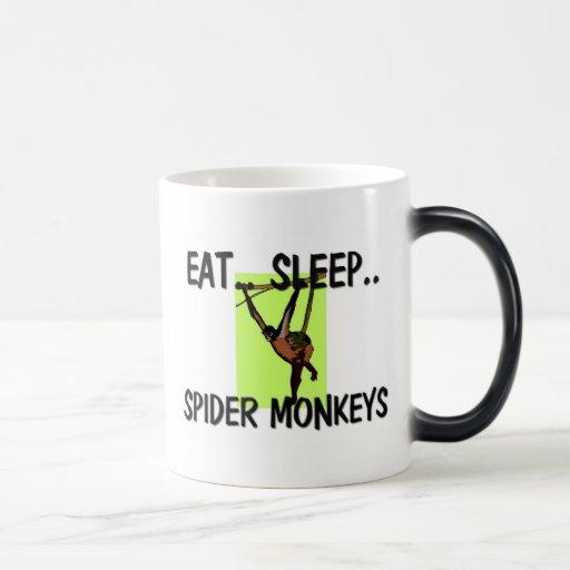 Eat Sleep SPIDER MONKEYS 11 Oz Magic Heat Color-Changing Coffee Mug