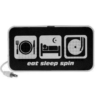 eat sleep spin iPod speakers