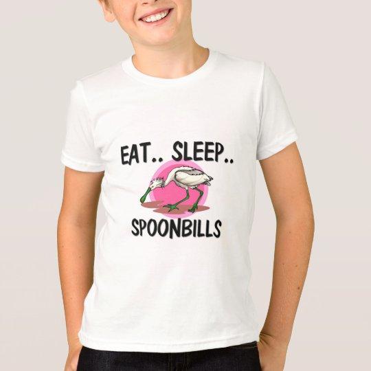 Eat Sleep SPOONBILLS T-Shirt