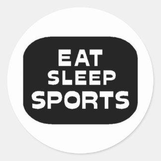 Eat Sleep Sports Classic Round Sticker