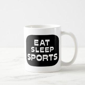 Eat Sleep Sports Classic White Coffee Mug