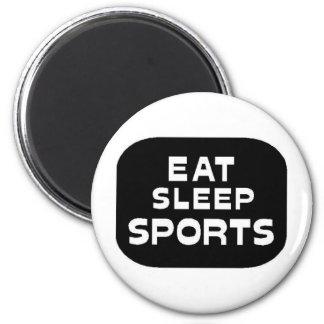 Eat Sleep Sports Magnet