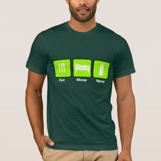 Eat, Sleep , Spray (Lime) T-Shirt