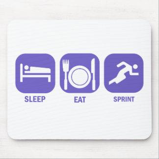 Eat Sleep Sprint Mouse Pad