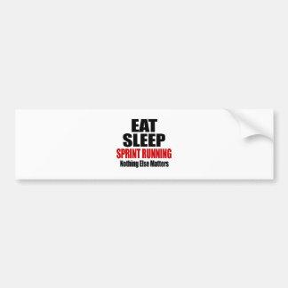 EAT SLEEP SPRINT RUNNING CAR BUMPER STICKER