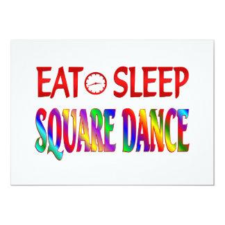 Eat Sleep Square Dance 5x7 Paper Invitation Card