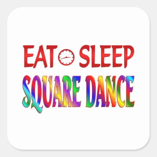 Eat Sleep Square Dance Stickers