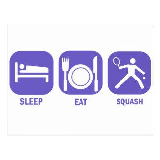 Eat Sleep Squash Postcard