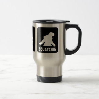 Eat Sleep  Squatch - Funny Coffee Travel Mug