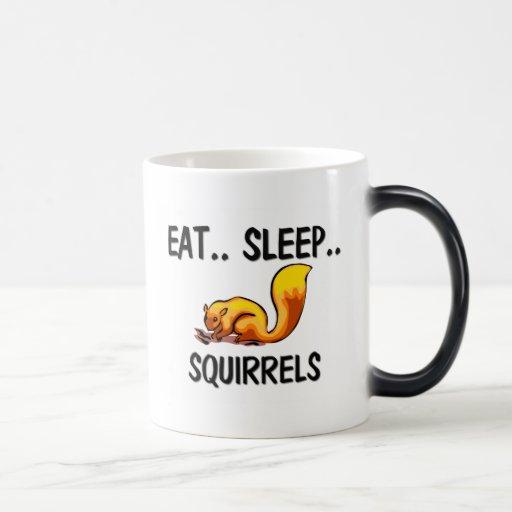 Eat Sleep SQUIRRELS Magic Mug