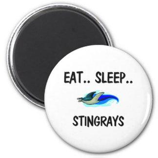Eat Sleep STINGRAYS 2 Inch Round Magnet