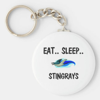 Eat Sleep STINGRAYS Basic Round Button Keychain
