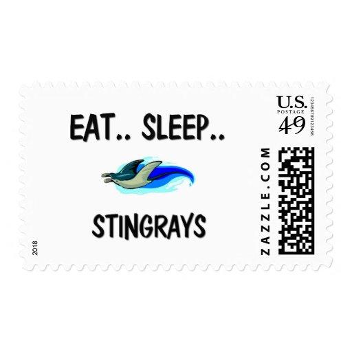 Eat Sleep STINGRAYS Stamp